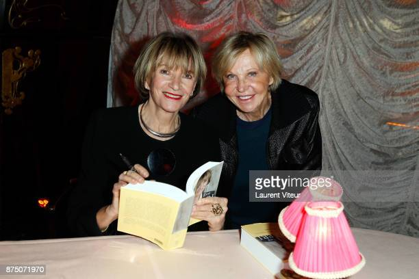 Eve Ruggieri and MarieChristiane Marek attend Eve Ruggieri signing copies of her book 'Dictionnaire Amoureux de Mozart' at Maxim's on November 16...