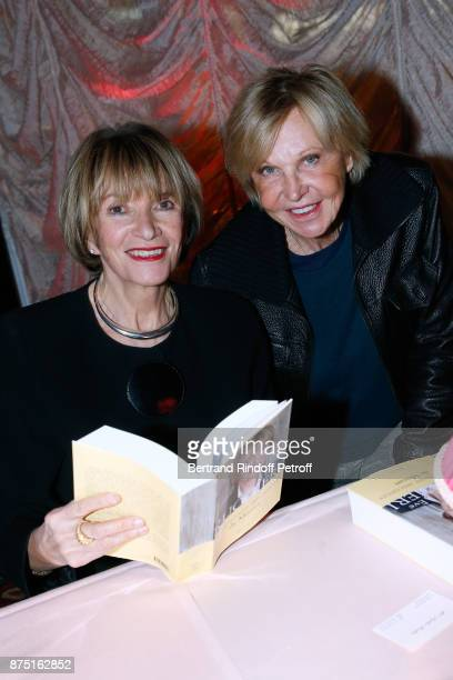 Eve Ruggieri and MarieChristiane Marek attend Eve Ruggieri signs her Book 'Dictionnaire amoureux de Mozart' at Maxim's on November 16 2017 in Paris...