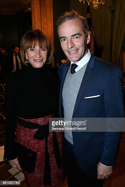 Eve Ruggieri and President of the Jury for the Prize of Stephane Bern's Foundation for 'L'Histoire' Franck Ferrand attend Stephane Bern's Foundation...