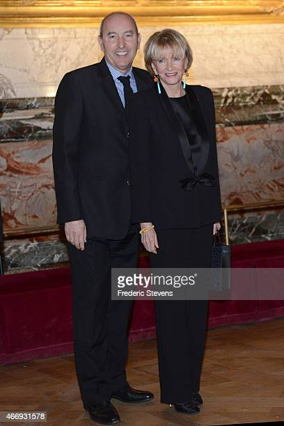 Eve Ruggieri and Rachid Khimoune attend the Gout de France/Good France dinner in the Galerie des Batailles of the Versailles castle on March 19 2015...