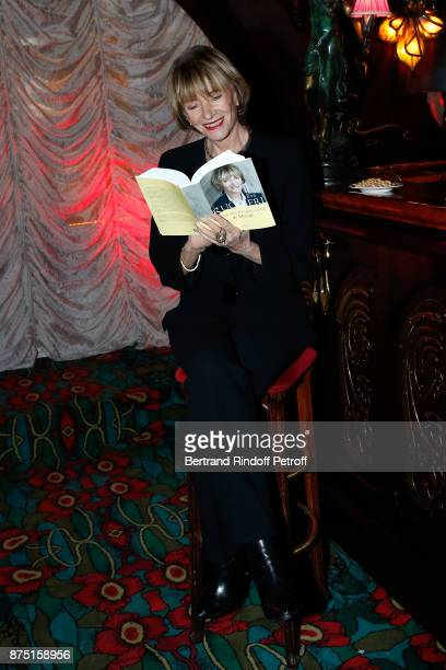 Eve Ruggieri signs her Book 'Dictionnaire amoureux de Mozart' at Maxim's on November 16 2017 in Paris France
