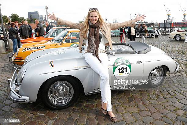 Eve Scheer attends the Hamburg-Berlin Klassik Rallye 2012 on September 20, 2012 in Hamburg, Germany.