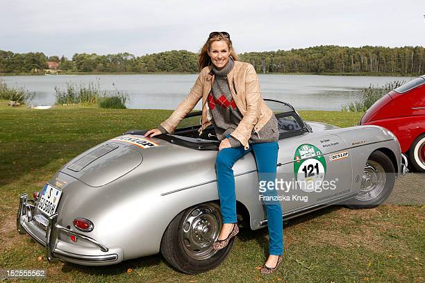 Eve Scheer attends the Hamburg-Berlin Klassik Rallye 2012 on September 21, 2012 in Ulrichshusen, Germany.