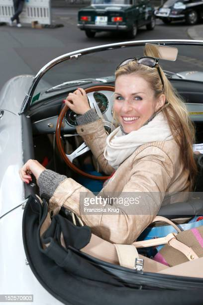 Eve Scheer attends the Hamburg-Berlin Klassik Rallye 2012 on September 22, 2012 in Berlin, Germany.