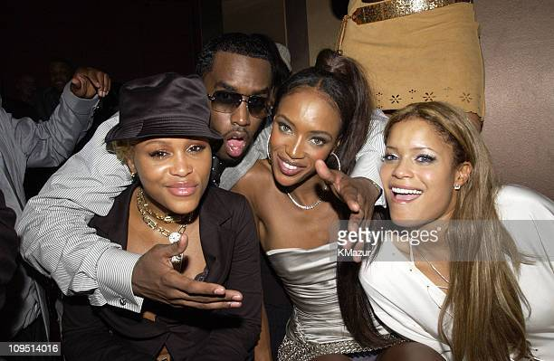 """Eve, Sean """"P. Diddy"""" Combs, Naomi Campbell and Blu Cantrell"""