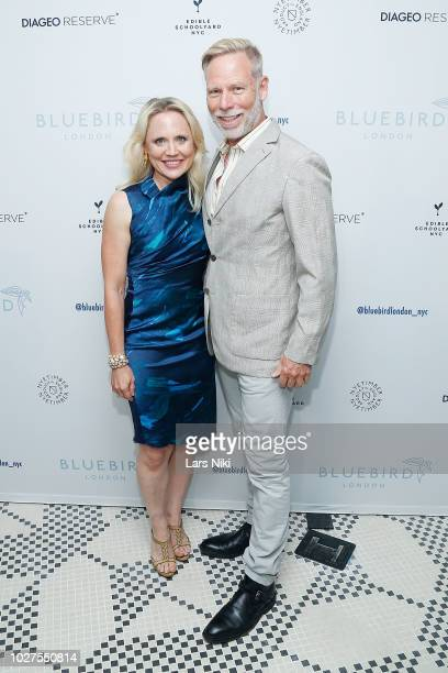 Eve Tetzlaff and Brian Phillips attend the Bluebird London New York City launch party at Bluebird London on September 5, 2018 in New York City.