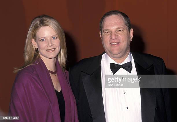Eve Weinstein and Harvey Weinstein during 2000 Whitney Museum Art Gala at Whitney Museum in New York City New York United States