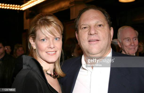 Eve Weinstein and Harvey Weinstein during Opening Night of Wonderful Town on Broadway and AfterParty at The Al Hirshfeld Theater and The Mandarin...