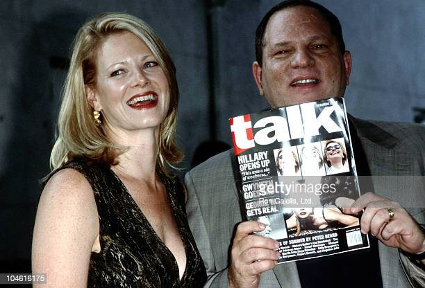 Eve Weinstein and Harvey Weinstein during Talk Magazine Launch Party August 2 1999 at Liberty Island in New York City New York United States