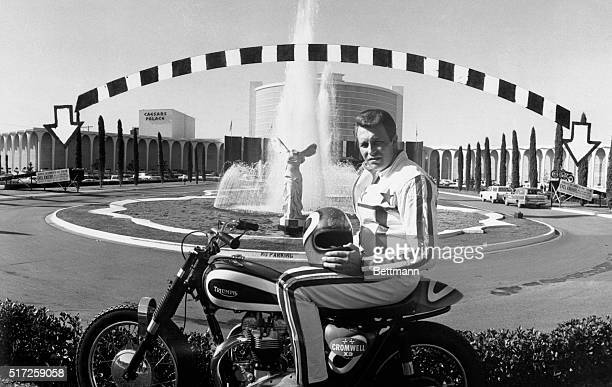 Evel Knievel shown prior to his jump over the fountain at Caesar's Palace in Las Vegas on December 31 1967