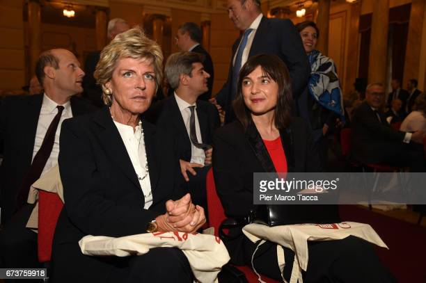 Evelina Christillin and Debora Serracchiani attend the 'Il Tempo Del Leone' book presentation on April 26 2017 in Trieste ItalyThe Assicurazioni...
