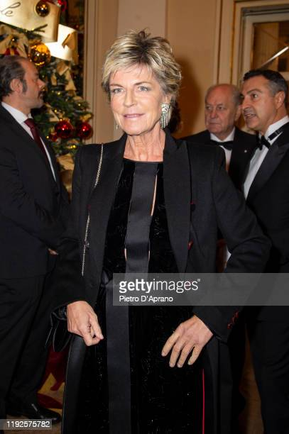Evelina Christillin attends the Prima Alla Scala at Teatro Alla Scala on December 07 2019 in Milan Italy