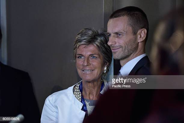 Evelina Christillin female member of the Fifa Council and New UEFA President Aleksander eferin .