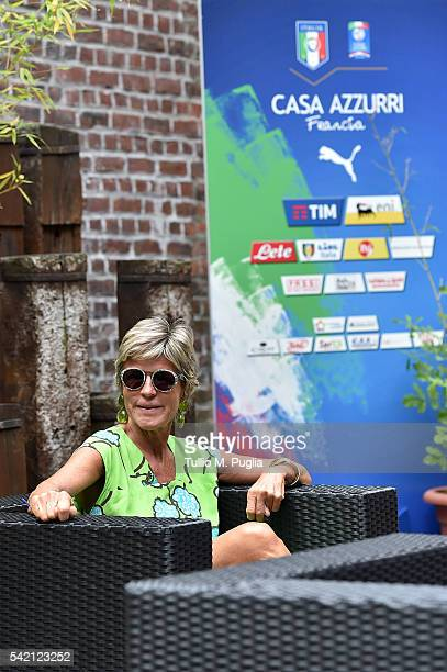 Evelina Christillin looks on at Casa Azzurri On Tour on June 22 2016 in Toulouse France