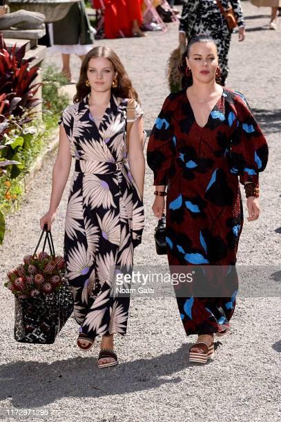Evelina Corcos and Debi Mazar walk the runway for Kate Spade New York during New York Fashion Week at Elizabeth Street Gardens on September 07, 2019...
