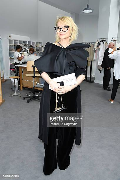 Evelina Khromchenko attends the Chanel Haute Couture Fall/Winter 20162017 show as part of Paris Fashion Week on July 5 2016 in Paris France