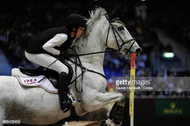 Eveline BODENMÜLLER of Switzerland riding Waldmann during the Cross Indoor sponsored by Tribune de Genève Rolex Grand Slam Geneva 2017
