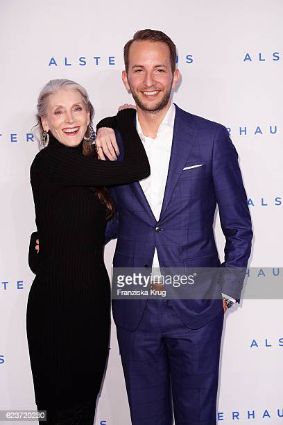 Eveline Hall and Timo Weber attend the new Luxury Hall Opening of the Alsterhaus on November 16 2016 in Hamburg Germany