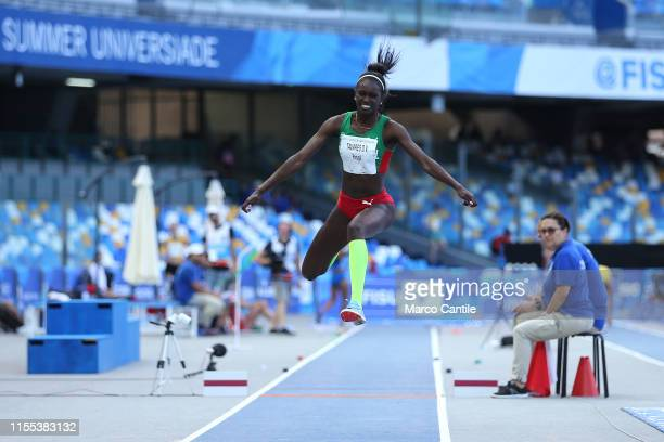 Evelise Tavares Da Veiga of Portugal during the final stages of athletics for the 2019 Universiade in the specialty of Triple Jump at San Paolo...