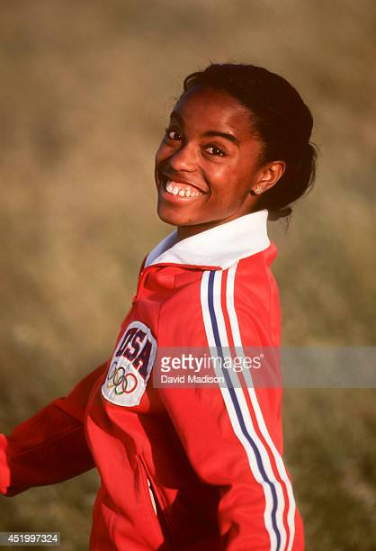 Evelyn Ashford of the USA poses for a portrait during June 1980 in the hills near Palo Alto California