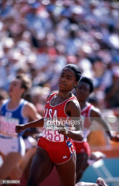 Evelyn Ashford Women's Track 100 meters competition Memorial Coliseum at the 1984 Summer Olympics August 4 1984