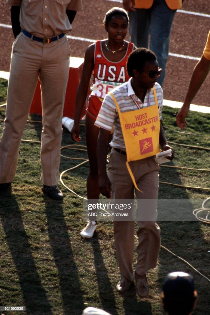 Women's Track 100 Metres Competition At The 1984 Summer Olympics : Foto di attualità