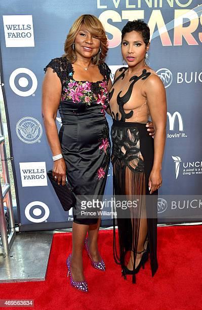 Evelyn Braxton and Toni Braxton attend An Evening of Stars at Atlanta Civic Center on April 12, 2015 in Atlanta, Georgia.