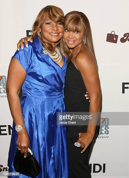Evelyn Braxton and Toni Braxton attend the Lupus LA's 8th Annual Bag Ladies Luncheon at the Beverly Wilshire Four Seasons Hotel on November 16 2010...