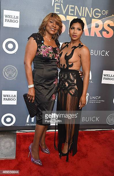 Evelyn Braxton and Toni Braxton attend the UNCF 'An Evening of Stars' at Boisfeuillet Jones Atlanta Civic Center on April 12, 2015 in Atlanta,...