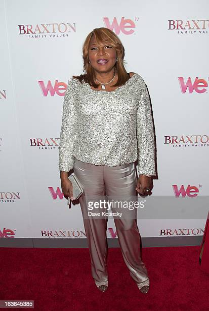 Evelyn Braxton attend the Braxton Family Values Season Three premiere party at STK Rooftop on March 13 2013 in New York City