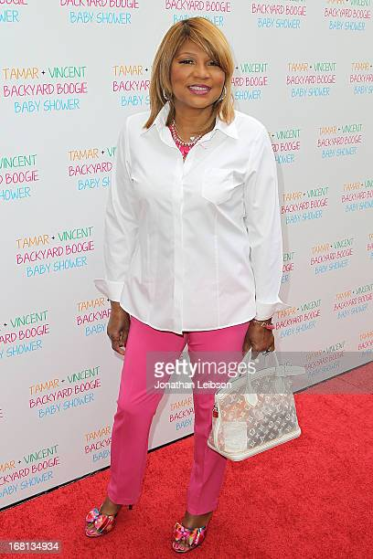 Evelyn Braxton attends as Tamar Braxton hosts a carnival-themed baby shower with friends and family at Hotel Bel-Air on May 5, 2013 in Los Angeles,...