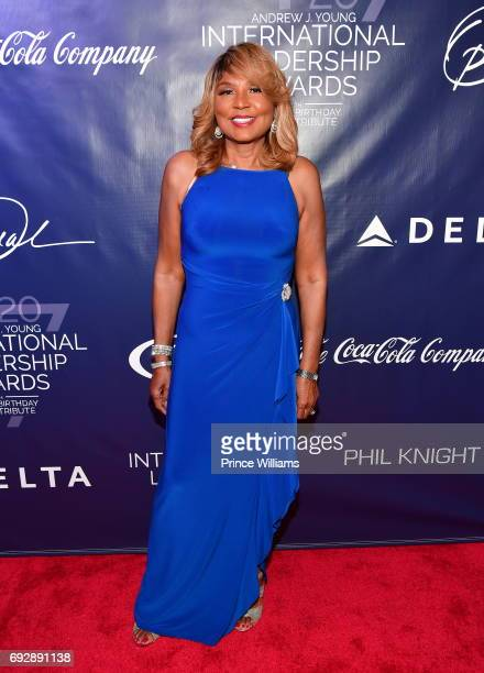 Evelyn Braxton attends the 2017 Andrew Young International Leadership awards and 85th Birthday tribute at Philips Arena on June 3, 2017 in Atlanta,...