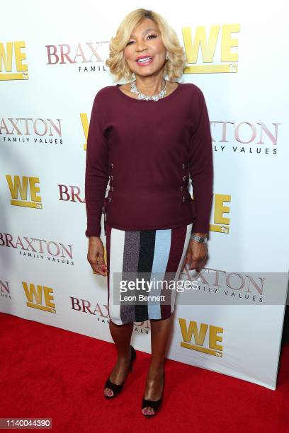 "Evelyn Braxton attends WE tv's ""Braxton Family Values"" Season 6 Premiere at The Doheny Room on April 02, 2019 in West Hollywood, California."