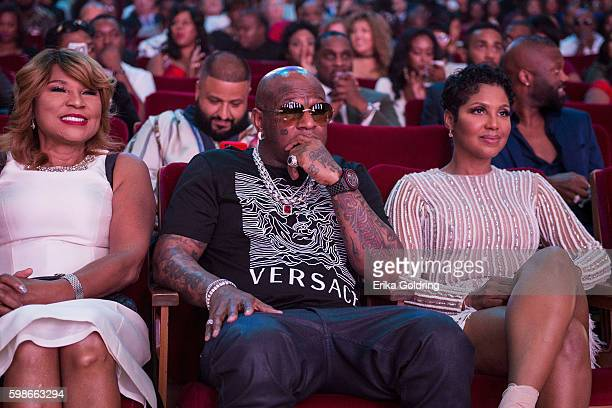 Evelyn Braxton; Bryan Birdman Williams and Toni Braxton attend the 2016 BMI R&B/Hip-Hop Awards at Woodruff Arts Center on September 1, 2016 in...