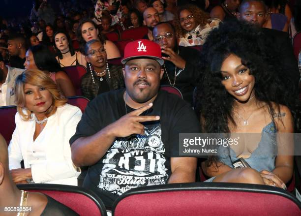 Evelyn Braxton , guest, SZA in the audience at the 2017 BET Awards at Microsoft Theater on June 25, 2017 in Los Angeles, California.