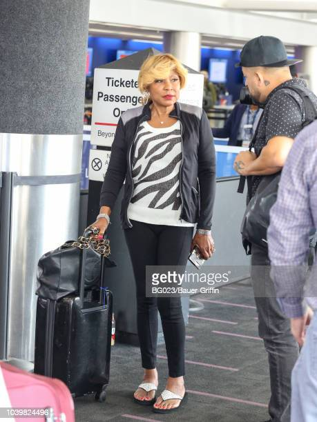 Evelyn Braxton is seen at Los Angeles International Airport on September 24, 2018 in Los Angeles, California.