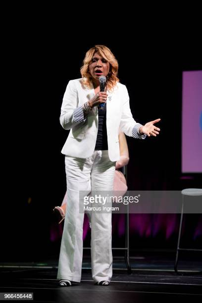 Evelyn Braxton speaks on stage during the Atlanta Ultimate Women's Expo at Georgia World Congress Center on June 2 2018 in Atlanta Georgia