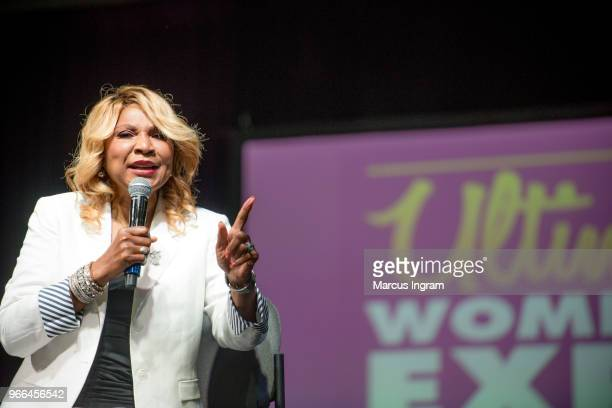 Evelyn Braxton speaks on stage during the Atlanta Ultimate Women's Expo at Georgia World Congress Center on June 2, 2018 in Atlanta, Georgia.