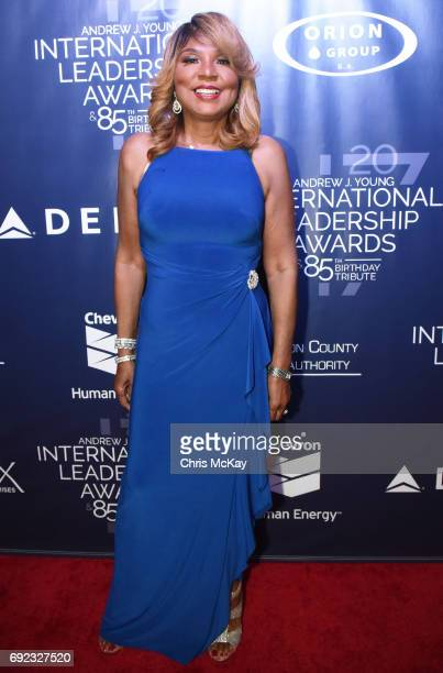 Evelyn Braxton walks the red carpet at The 2017 Andrew Young International Leadership Awards and 85th Birthday Tribute at Philips Arena on June 3...
