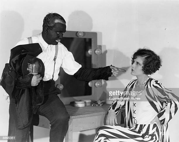 Evelyn Brent and Charles Mack the lazy voiced member of minstrel comedians Moran and Mack known as 'The Two Black Crows' starring in the Paramount...