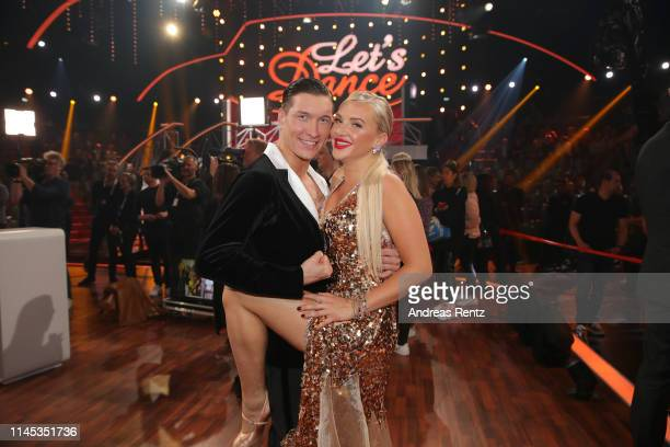 "Evelyn Burdecki and Evgeny Vinokurov are seen during the 5th show of the 12th season of the television competition ""Let's Dance"" on April 26, 2019 in..."