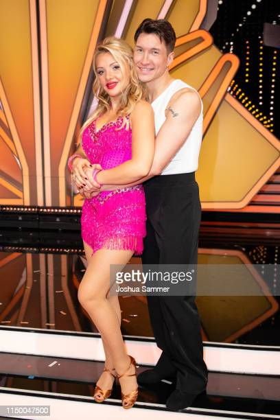 "Evelyn Burdecki and Evgeny Vinokurov are seen during the 8th show of the 12th season of the television competition ""Let's Dance"" on May 17, 2019 in..."