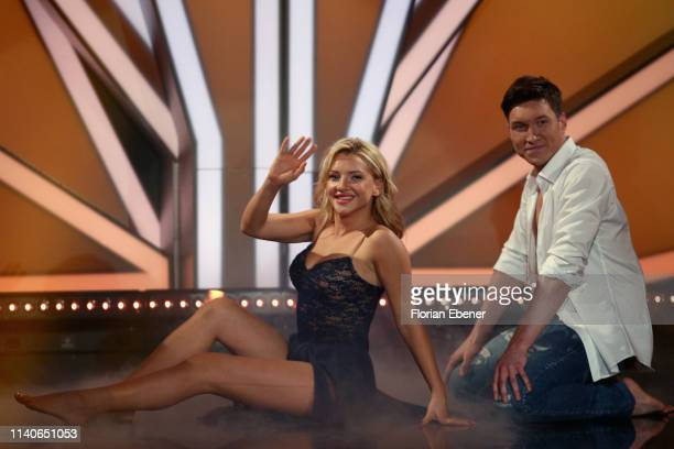 Evelyn Burdecki and Evgeny Vinokurov perform during the 3rd show of the 12th season of the television competition Let's Dance on April 05 2019 in...