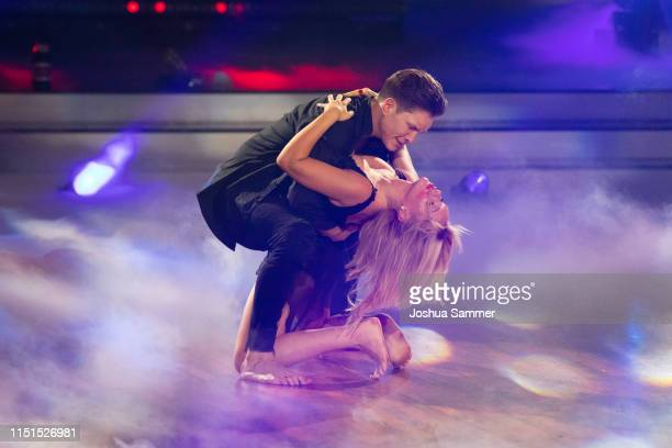 Evelyn Burdecki and Evgeny Vinokurov perform on stage during the 9th show of the 12th season of the television competition Let's Dance on May 24 2019...