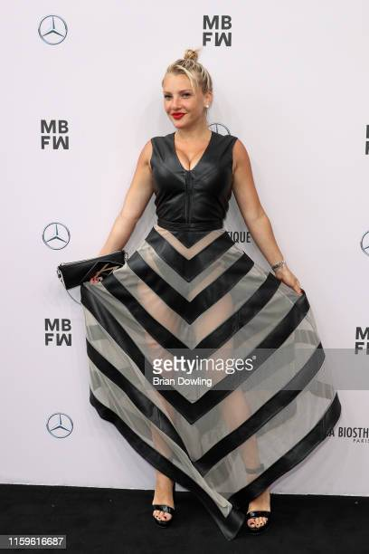 Evelyn Burdecki attends the Maisonnoee show during the Berlin Fashion Week Spring/Summer 2020 at ewerk on July 02 2019 in Berlin Germany