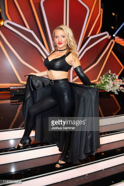"Evelyn Burdecki is seen during the 10th show of the 12th season of the television competition ""Let's Dance"" on May 31, 2019 in Cologne, Germany."