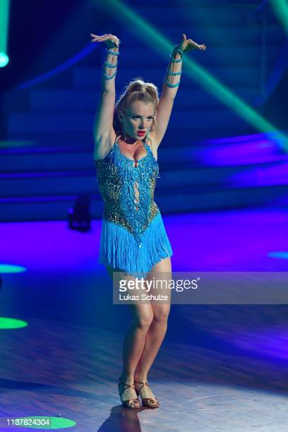 Evelyn Burdecki performs on stage during the 1st show of the 12th season of the television competition Let's Dance on March 22 2019 in Cologne Germany