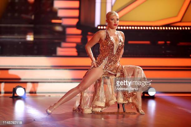 "Evelyn Burdecki performs on stage during the 5th show of the 12th season of the television competition ""Let's Dance"" on April 26, 2019 in Cologne,..."