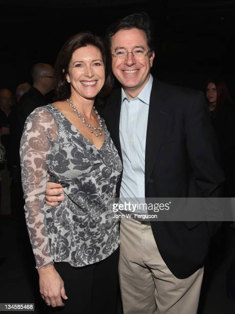 Evelyn Colbert and Stephen Colbert attend a benefit for the Montclair Film Festival>> at The Wellmont Theatre on December 2 2011 in Montclair New...