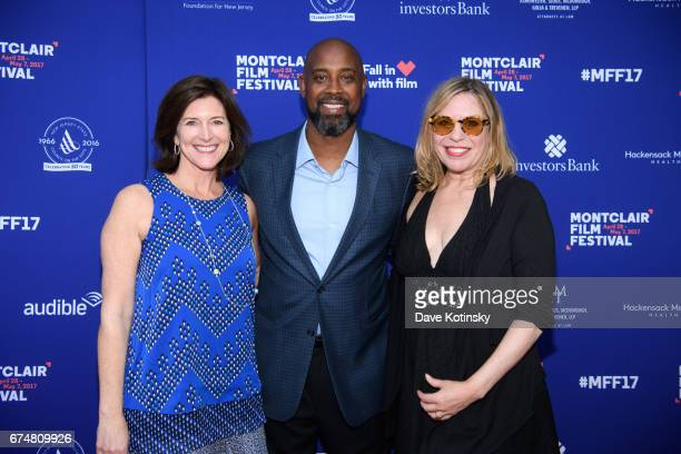 Evelyn Colbert NBA Kenny Anderson and Jill Campbell arrive at Montclair Film Festival 2017 Opening Night on April 28 2017 in Montclair New Jersey